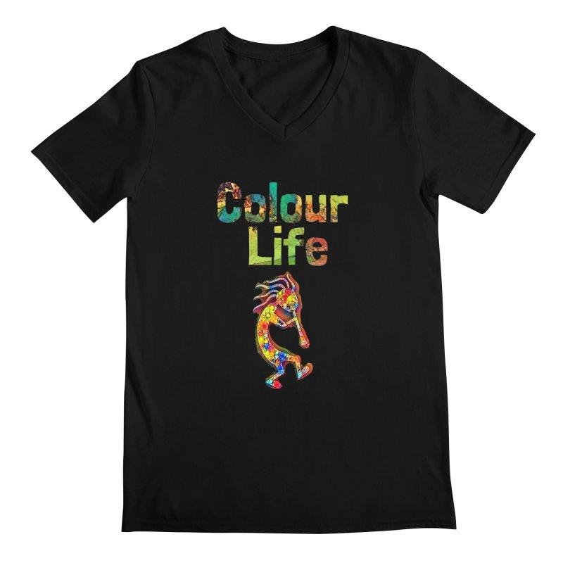 Colour Life with Music Men's Regular V-Neck by Artdrips's Artist Shop