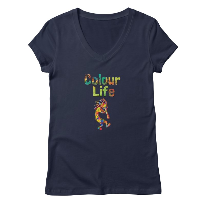 Colour Life with Music Women's Regular V-Neck by Artdrips's Artist Shop