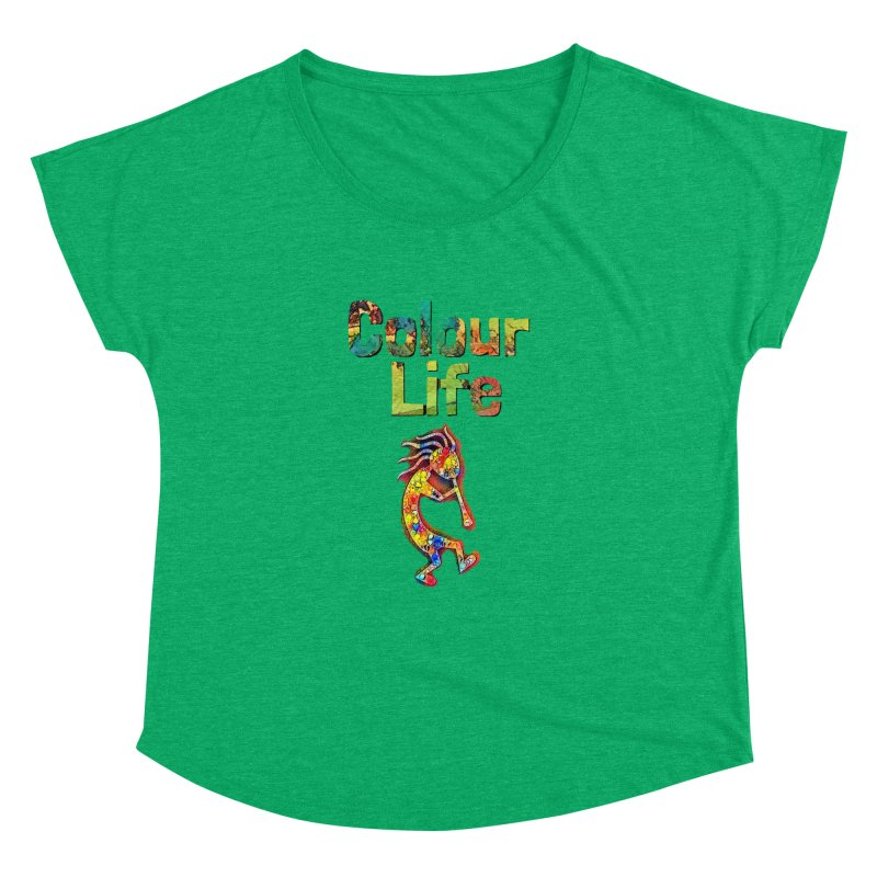 Colour Life with Music Women's Dolman Scoop Neck by Artdrips's Artist Shop