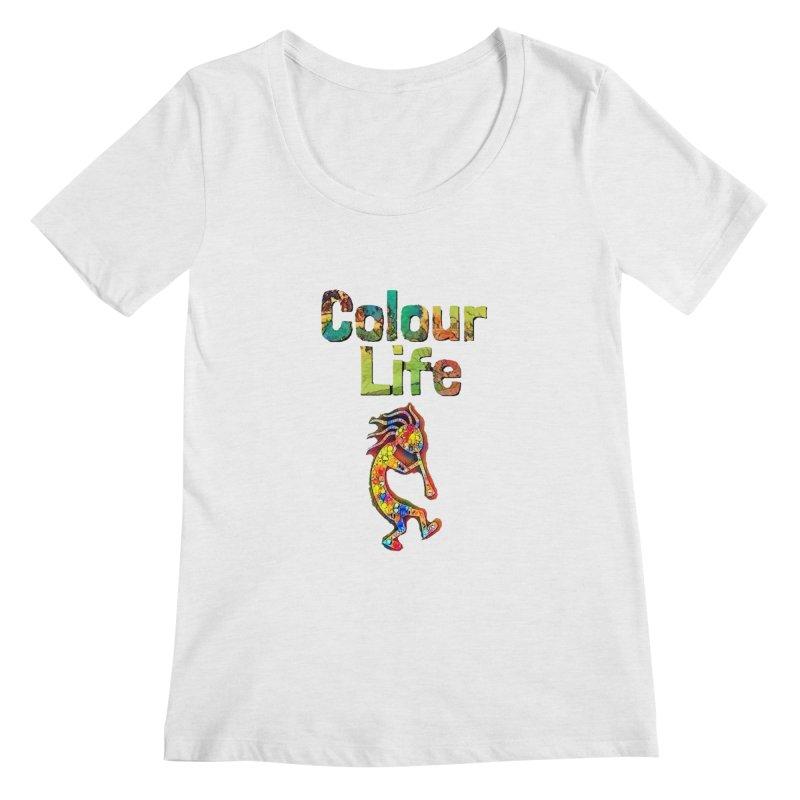 Colour Life with Music Women's Regular Scoop Neck by Artdrips's Artist Shop
