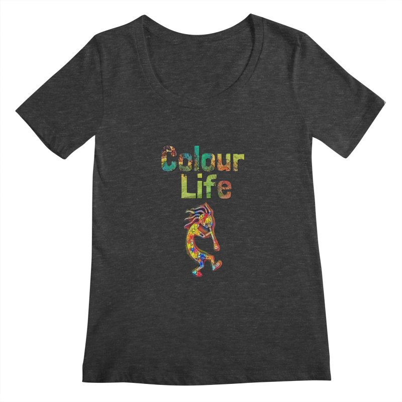 Colour Life with Music Women's Regular Scoop Neck by Artdrips's Artist Shop