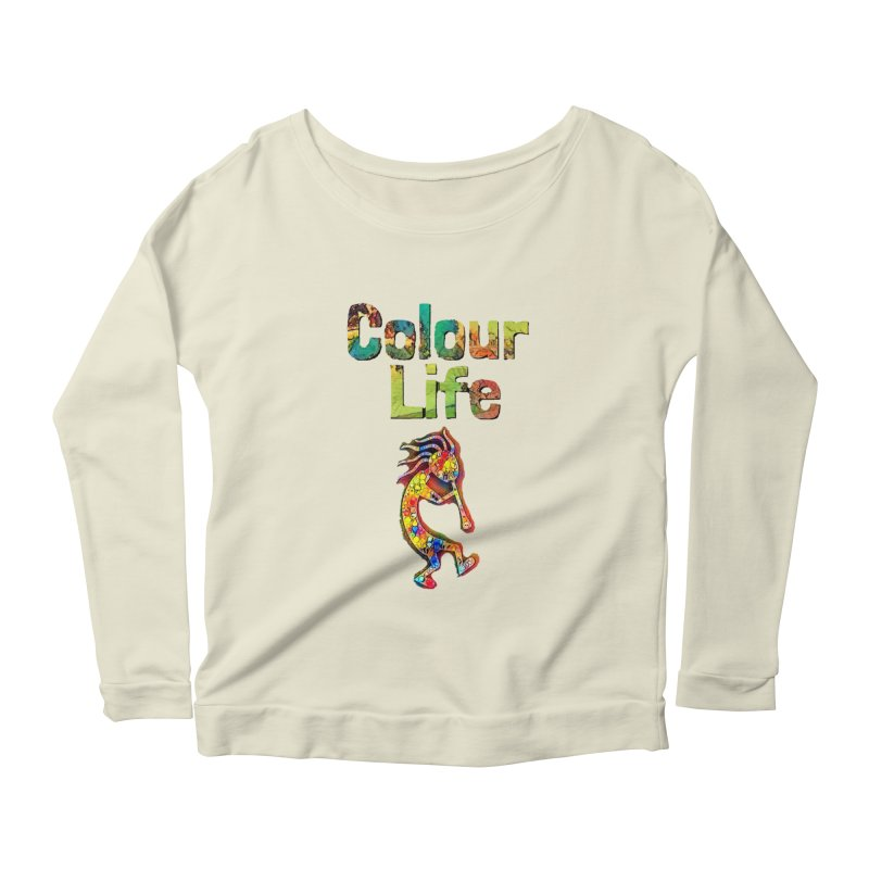 Colour Life with Music Women's Scoop Neck Longsleeve T-Shirt by Artdrips's Artist Shop