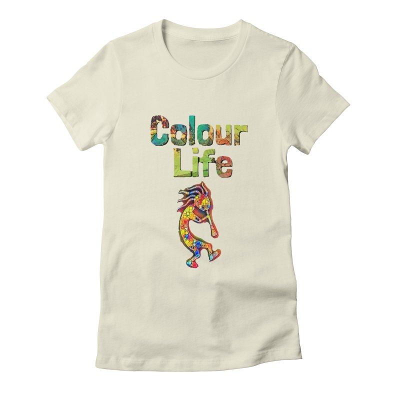 Colour Life with Music Women's Fitted T-Shirt by Artdrips's Artist Shop