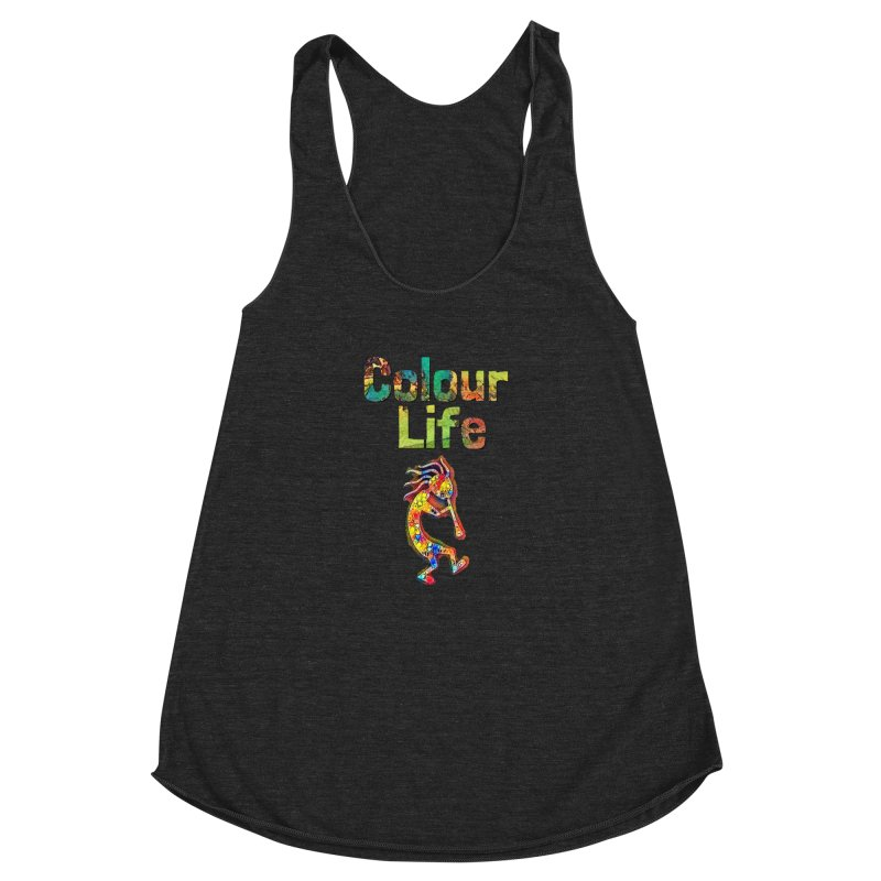 Colour Life with Music Women's Racerback Triblend Tank by Artdrips's Artist Shop