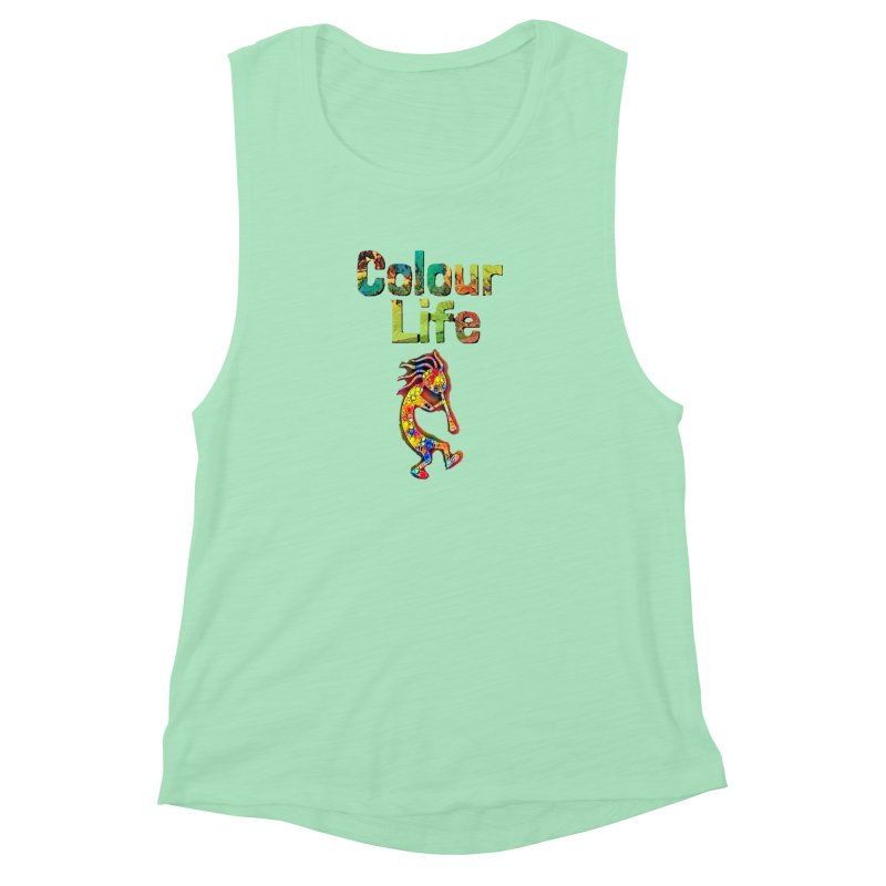 Colour Life with Music Women's Muscle Tank by Artdrips's Artist Shop