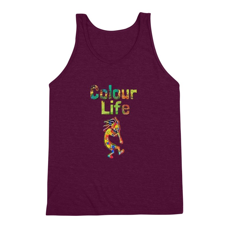 Colour Life with Music Men's Triblend Tank by Artdrips's Artist Shop