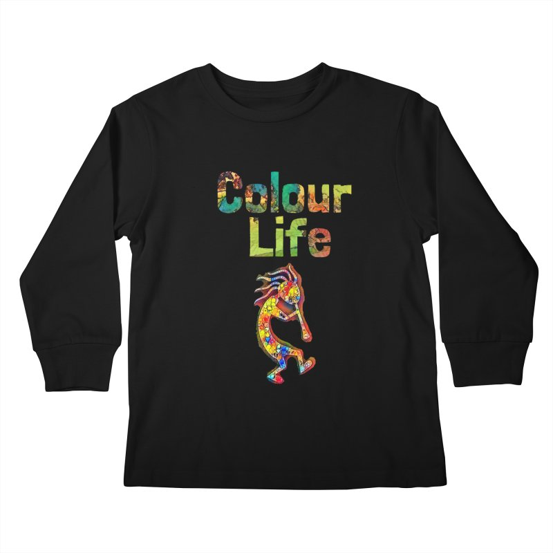 Colour Life with Music Kids Longsleeve T-Shirt by Artdrips's Artist Shop