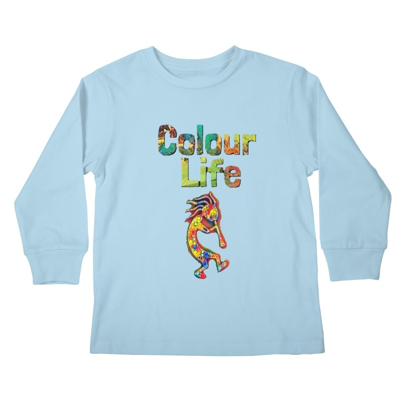 Colour Life with Music Kids Longsleeve T-Shirt by Artdrips's Artist Shop