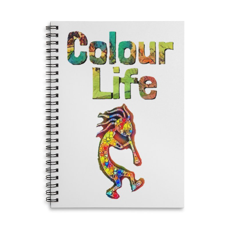 Colour Life with Music Accessories Notebook by Artdrips's Artist Shop