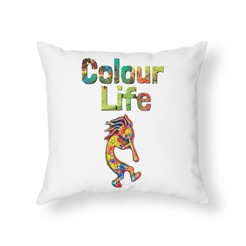 Colour Life with Music Home Throw Pillow by Artdrips's Artist Shop