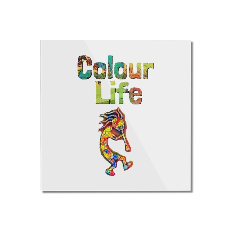 Colour Life with Music Home Mounted Acrylic Print by Artdrips's Artist Shop