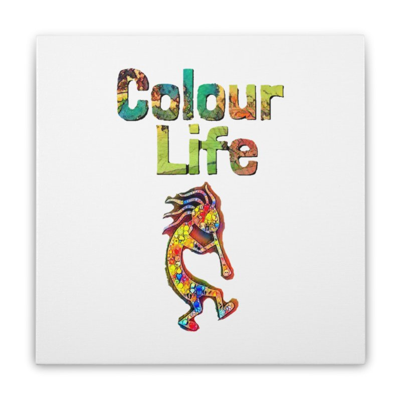 Colour Life with Music Home Stretched Canvas by Artdrips's Artist Shop