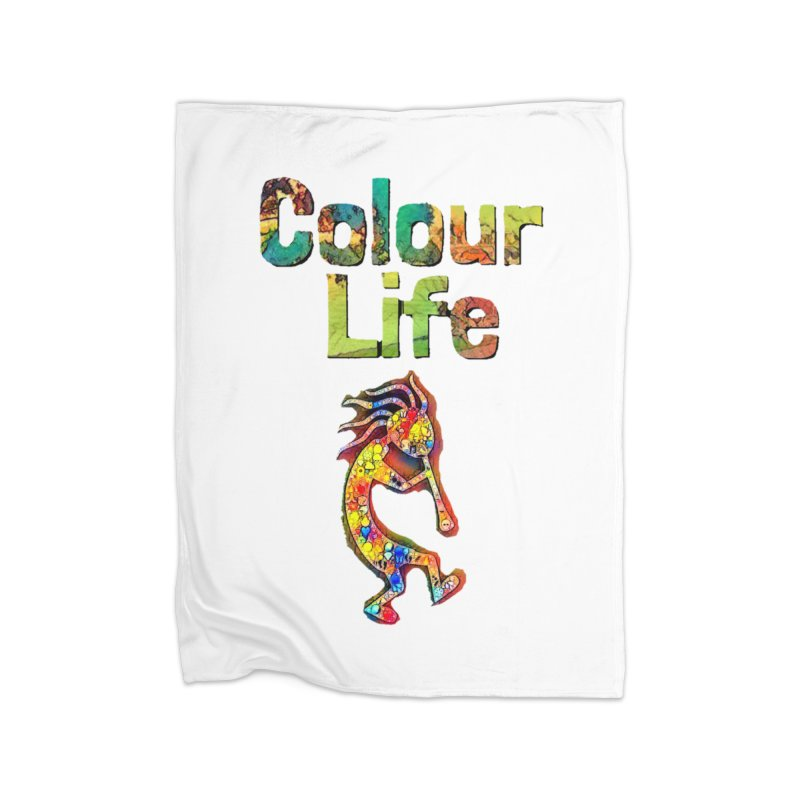 Colour Life with Music Home Fleece Blanket Blanket by Artdrips's Artist Shop