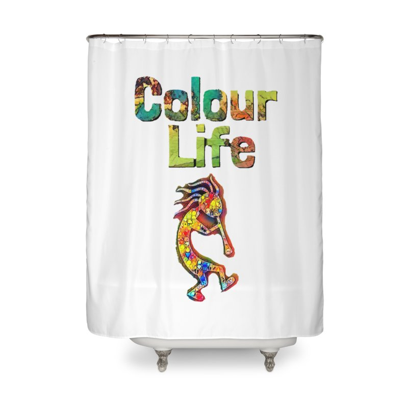 Colour Life with Music Home Shower Curtain by Artdrips's Artist Shop