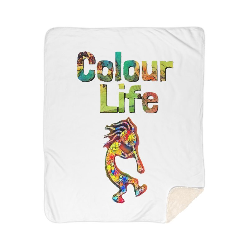 Colour Life with Music Home Sherpa Blanket Blanket by Artdrips's Artist Shop