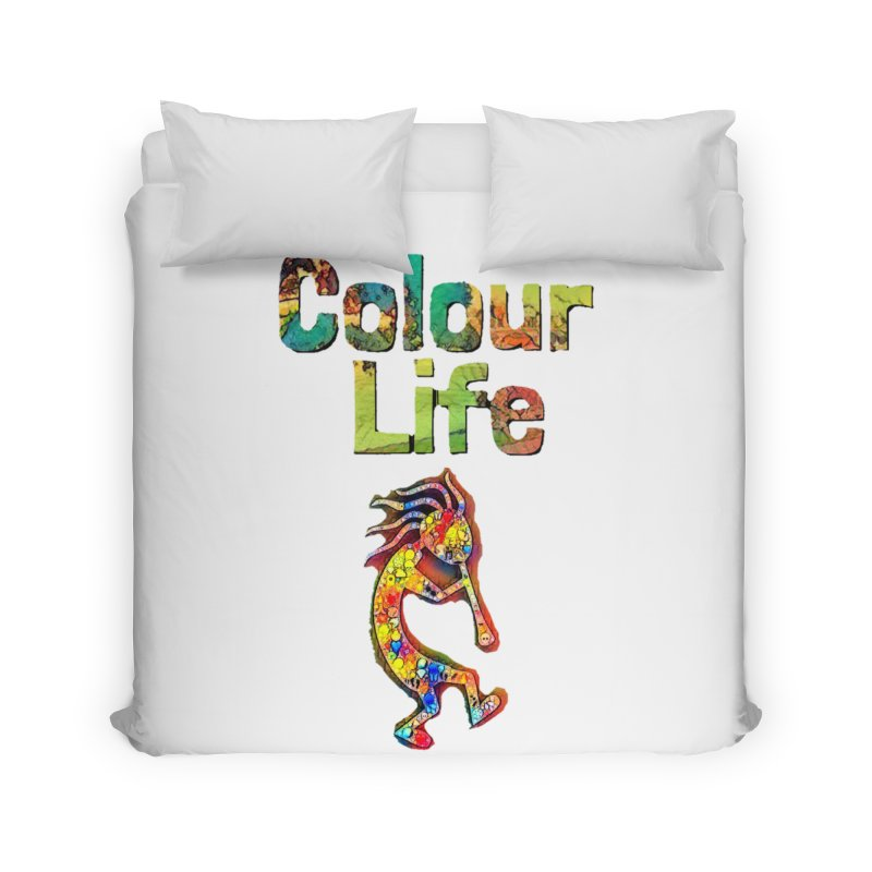 Colour Life with Music Home Duvet by Artdrips's Artist Shop