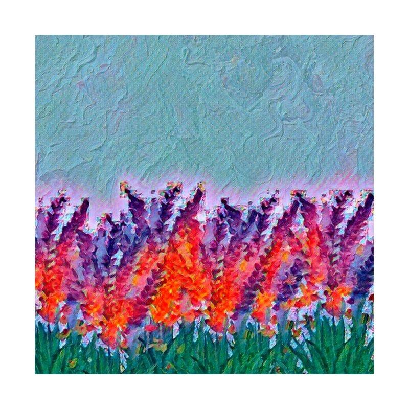 Bold purple and Orange wild flowers by Artdrips's Artist Shop