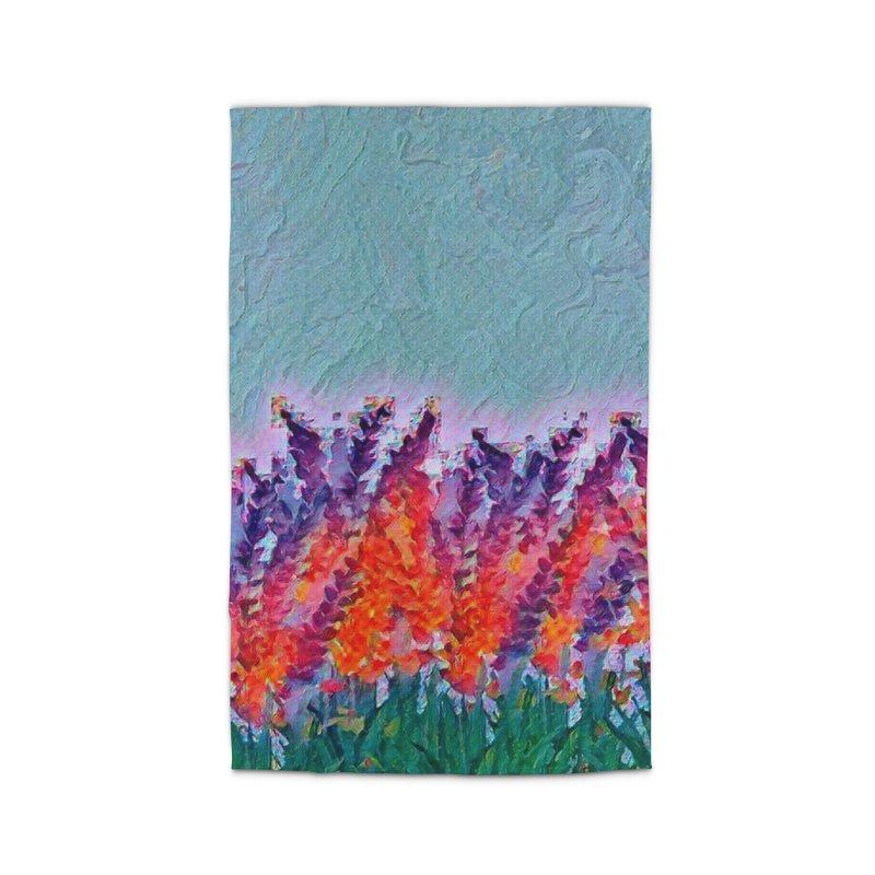 Bold purple and Orange wild flowers Home Rug by Artdrips's Artist Shop