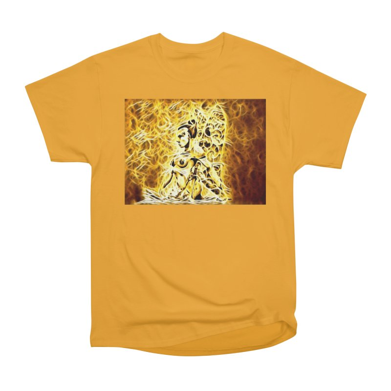 Golden Warrior Fairy Men's Heavyweight T-Shirt by Artdrips's Artist Shop
