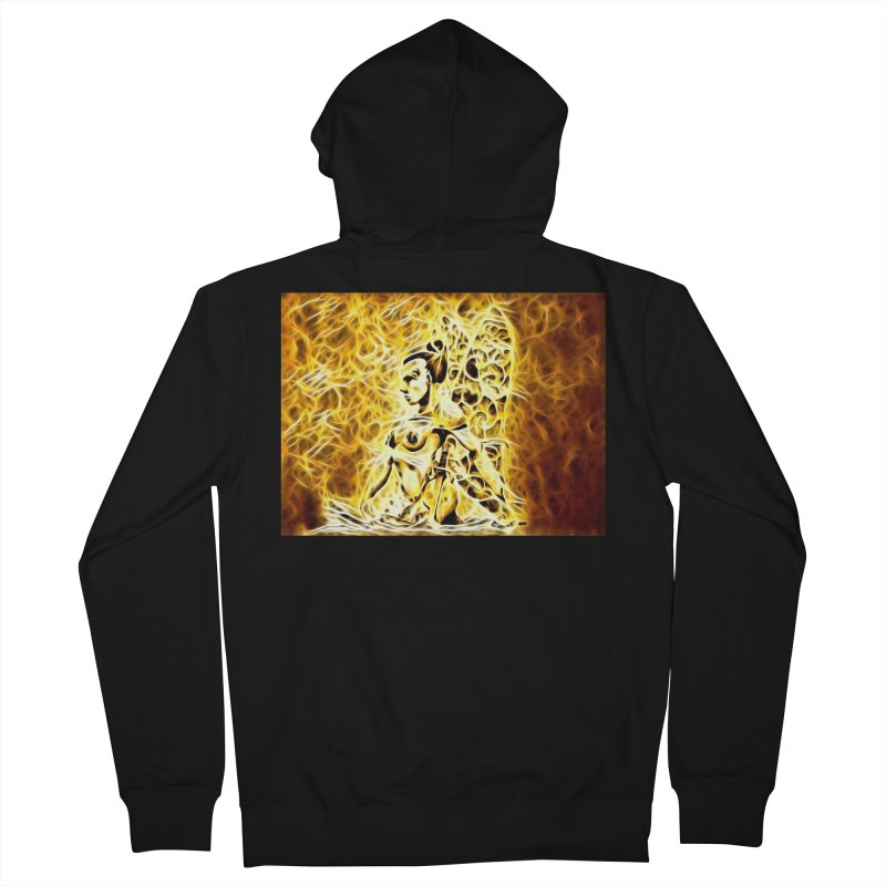 Golden Warrior Fairy Men's French Terry Zip-Up Hoody by Artdrips's Artist Shop
