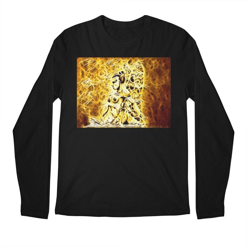Golden Warrior Fairy Men's Regular Longsleeve T-Shirt by Artdrips's Artist Shop