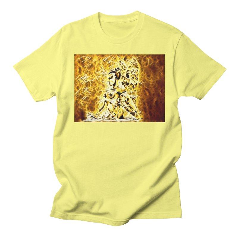 Golden Warrior Fairy Men's Regular T-Shirt by Artdrips's Artist Shop