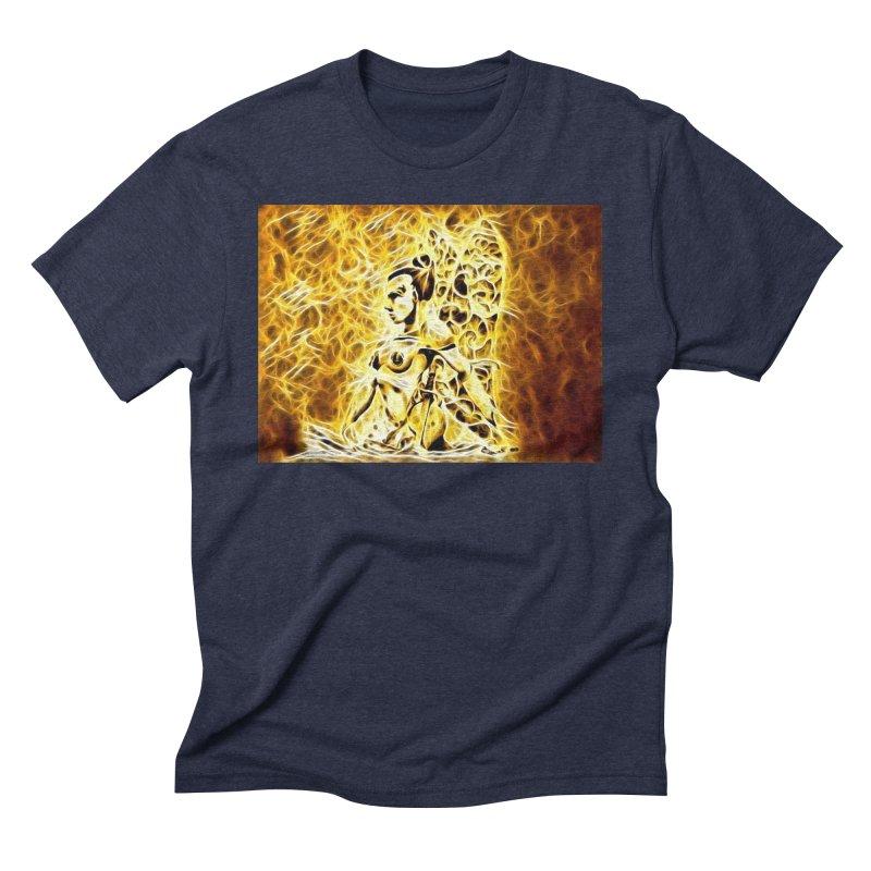 Golden Warrior Fairy Men's Triblend T-Shirt by Artdrips's Artist Shop