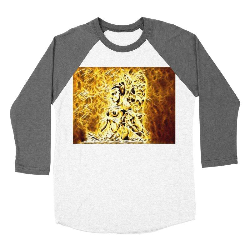 Golden Warrior Fairy Women's Baseball Triblend Longsleeve T-Shirt by Artdrips's Artist Shop