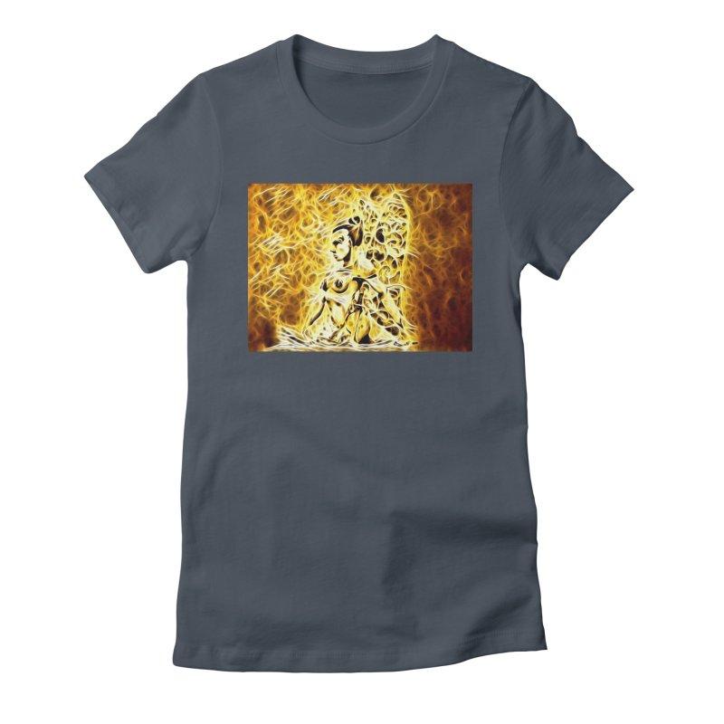 Golden Warrior Fairy Women's Fitted T-Shirt by Artdrips's Artist Shop
