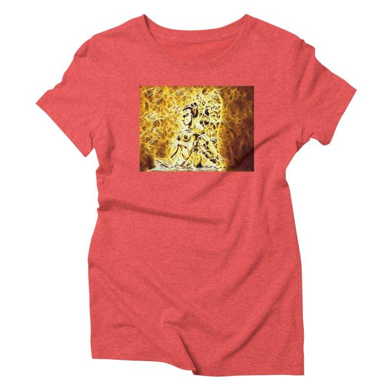 Golden Warrior Fairy Women's Triblend T-Shirt by Artdrips's Artist Shop