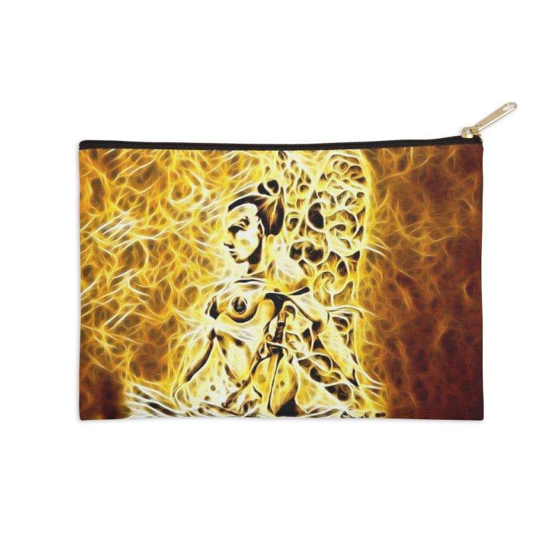 Golden Warrior Fairy Accessories Zip Pouch by Artdrips's Artist Shop