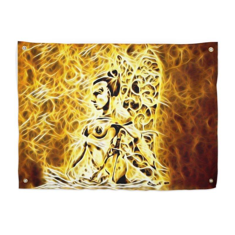 Golden Warrior Fairy Home Tapestry by Artdrips's Artist Shop