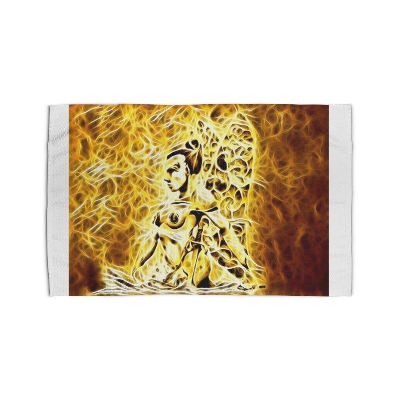 Golden Warrior Fairy Home Rug by Artdrips's Artist Shop