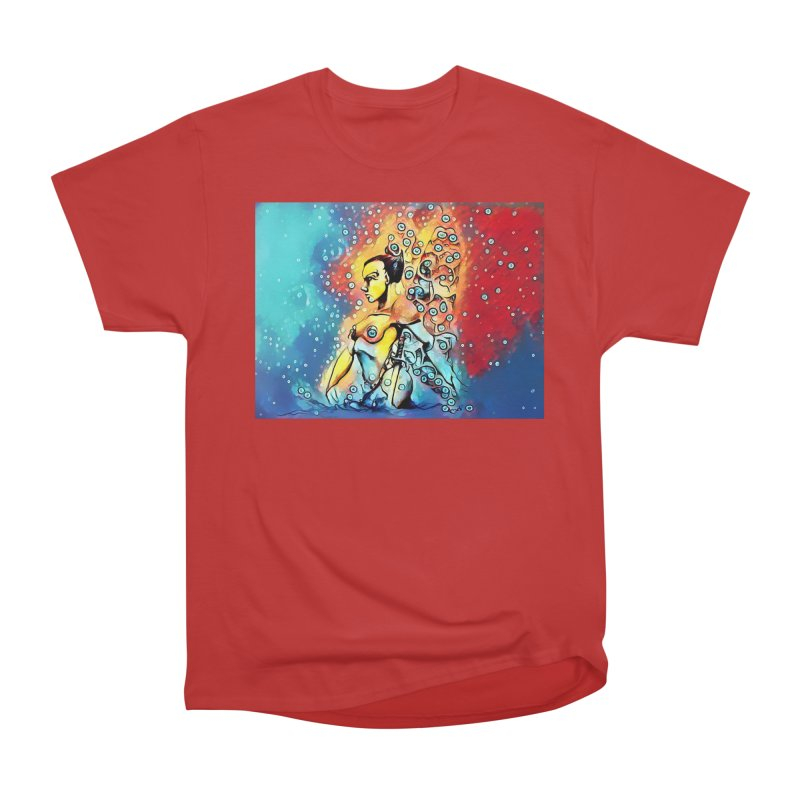 Fairy Warrior in Blue and Red Men's Heavyweight T-Shirt by Artdrips's Artist Shop