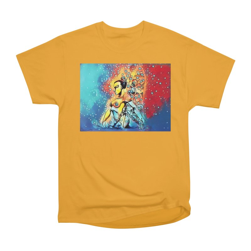 Fairy Warrior in Blue and Red Women's Heavyweight Unisex T-Shirt by Artdrips's Artist Shop