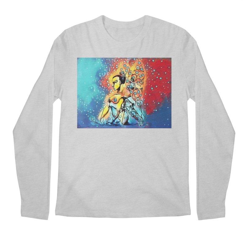 Fairy Warrior in Blue and Red Men's Regular Longsleeve T-Shirt by Artdrips's Artist Shop
