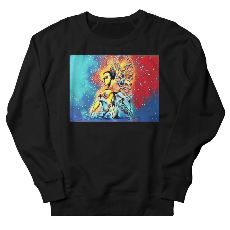 Fairy Warrior in Blue and Red Men's French Terry Sweatshirt by Artdrips's Artist Shop