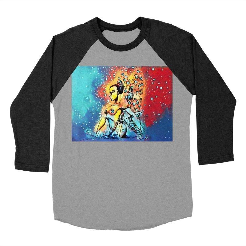 Fairy Warrior in Blue and Red Women's Baseball Triblend Longsleeve T-Shirt by Artdrips's Artist Shop