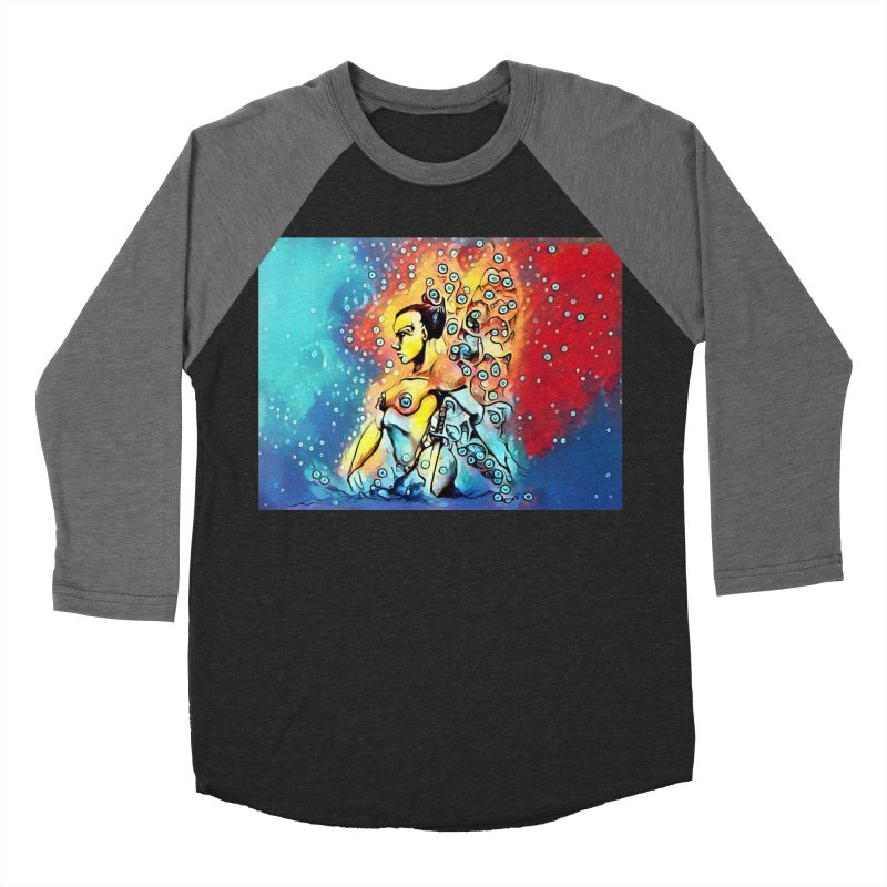 Fairy Warrior in Blue and Red Men's Baseball Triblend Longsleeve T-Shirt by Artdrips's Artist Shop