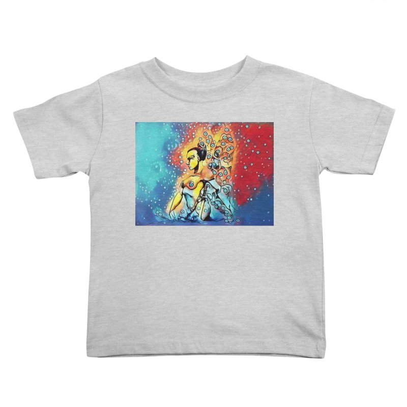 Fairy Warrior in Blue and Red Kids Toddler T-Shirt by Artdrips's Artist Shop