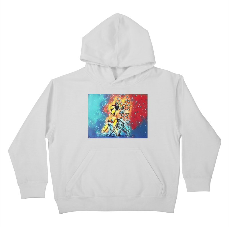 Fairy Warrior in Blue and Red Kids Pullover Hoody by Artdrips's Artist Shop