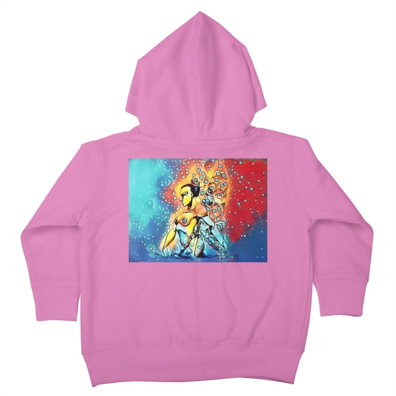 Fairy Warrior in Blue and Red Kids Toddler Zip-Up Hoody by Artdrips's Artist Shop
