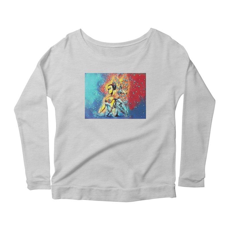 Fairy Warrior in Blue and Red Women's Scoop Neck Longsleeve T-Shirt by Artdrips's Artist Shop