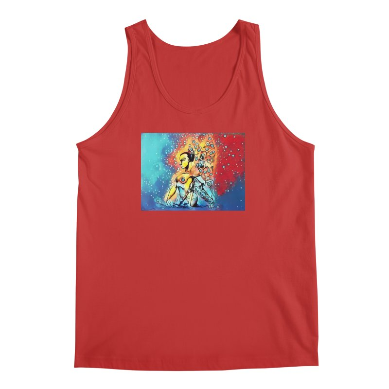 Fairy Warrior in Blue and Red Men's Regular Tank by Artdrips's Artist Shop