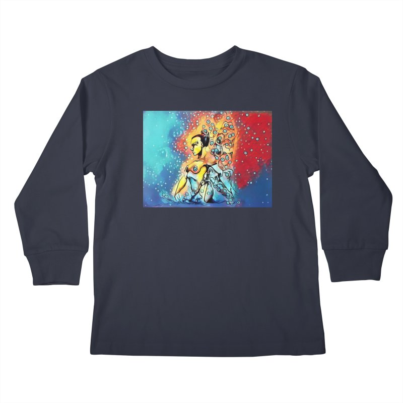 Fairy Warrior in Blue and Red Kids Longsleeve T-Shirt by Artdrips's Artist Shop