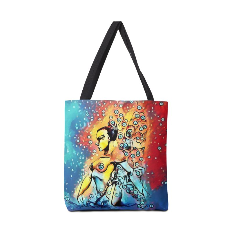 Fairy Warrior in Blue and Red Accessories Bag by Artdrips's Artist Shop