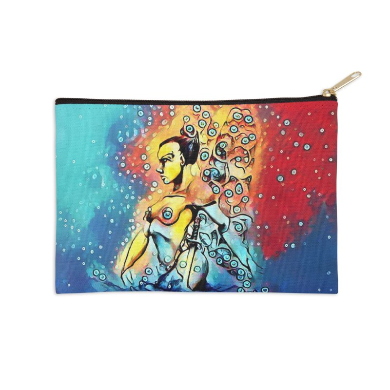 Fairy Warrior in Blue and Red Accessories Zip Pouch by Artdrips's Artist Shop