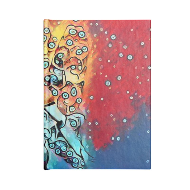 Fairy Warrior in Blue and Red Accessories Notebook by Artdrips's Artist Shop