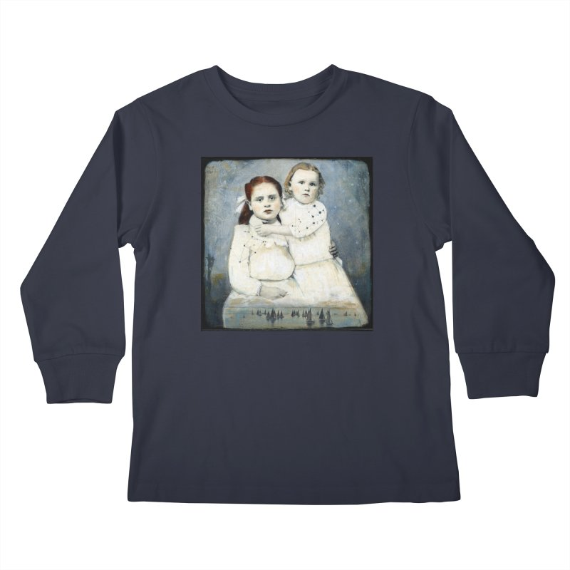 Cassiopeia and Her Sister - Tricia Scott Kids Longsleeve T-Shirt by Artemis Journal's Artist Shop