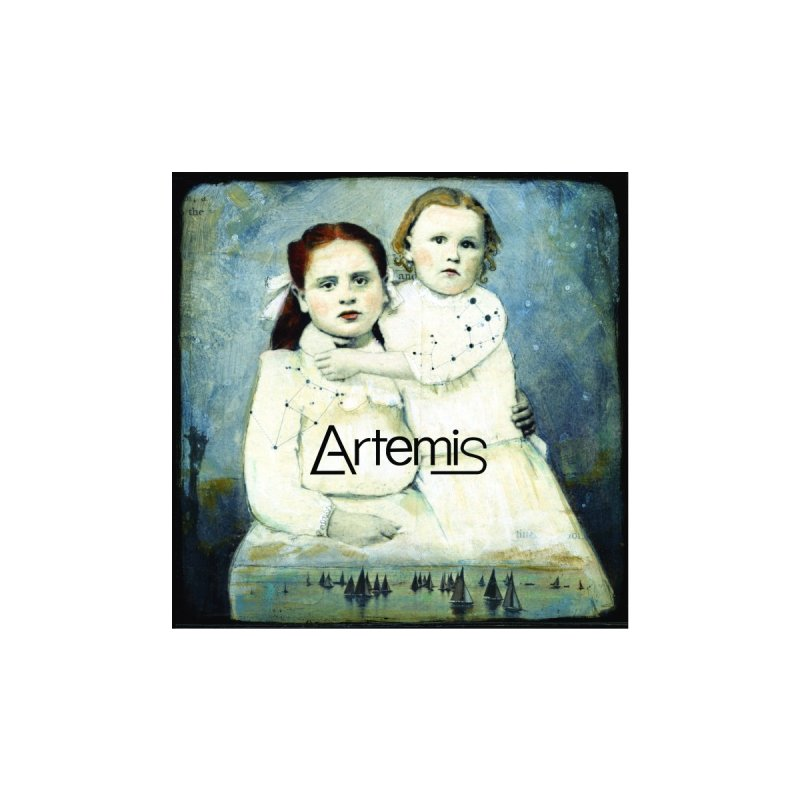 Cassiopeia and Her Sister by Tricia Scott [with ARTEMIS LOGO] Kids Pullover Hoody by Artemis Journal's Artist Shop